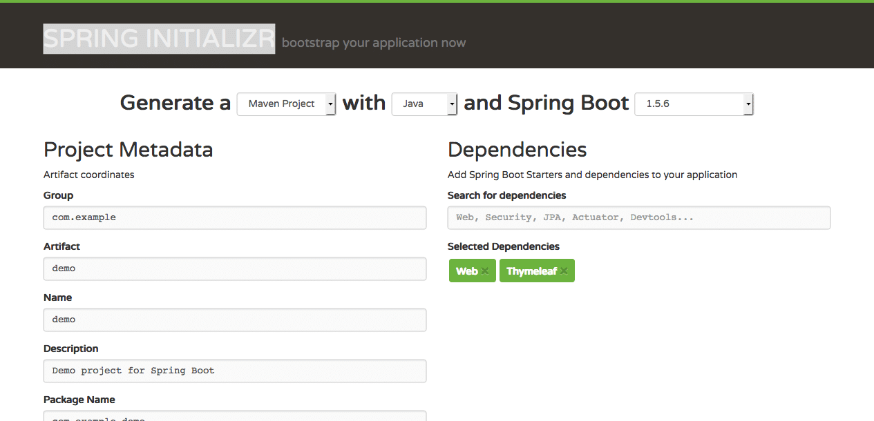 Building an Application with Spring Boot