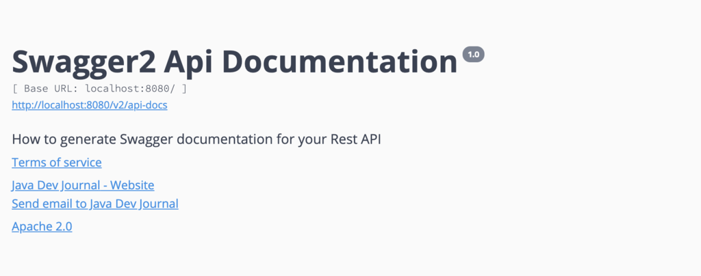 how to use swagger for your Spring REST API